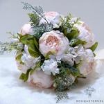 Bouquet de la Mariée Pivoine Champêtre | Fleurs Artificielles | Pivoines Artificielles | Bouqueternel