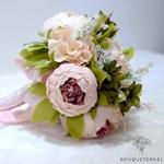 Bouquet de Mariée Pivoine Champêtre | Fleurs Artificielles | Pivoines Artificielles | Bouqueternel