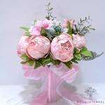 Bouquet Mariée Pivoine Champêtre Roses | Fleurs Artificielles | Pivoines Artificielles | Bouqueternel