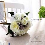 Bouquet de Mariée Artificiel Pas Cher Blanc | Fleurs Artificielles | Renoncules Artificielles | Bouqueternel