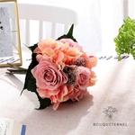 Bouquet de Mariée Artificiel Pas Cher Rose | Fleurs Artificielles | Renoncules Artificielles | Bouqueternel