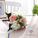 Bouquet de Mariée Artificiel Pas Cher Rose et Blanc | Fleurs Artificielles | Renoncules Artificielles | Bouqueternel