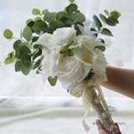 Bouquet de Mariée Pivoine et Eucalyptus | Fleurs Artificielles | Pivoine Artificielle | Bouqueternel