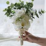 Bouquet de Mariée Pivoine Eucalyptus | Fleurs Artificielles | Pivoine Artificielle | Bouqueternel