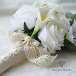 Bouquet Mariée de Pivoine Eucalyptus | Fleurs Artificielles | Pivoine Artificielle | Bouqueternel