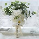 Bouquet Mariée Pivoine Eucalyptus | Fleurs Artificielles | Pivoine Artificielle | Bouqueternel