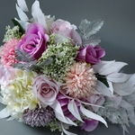 Bouquet Mariée Artificiel en Cascade | Fleurs Artificielles | Renoncules Artificielles | Bouqueternel