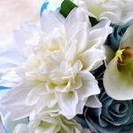 Bouquet Artificiel Bleu de Mariée   Fleurs Artificielles   Renoncules Artificielles   Bouqueternel