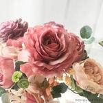 Décoration de Table Ronde Mariage Violettes | Bouquet Artificiel | Roses Artificielles | Bouqueternel