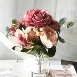 Décoration Table Ronde Mariage Roses | Bouquet Artificiel | Roses Artificielles | Bouqueternel