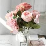 Décoration Table Ronde Mariage Roses Pâles  | Bouquet Artificiel | Roses Artificielles | Bouqueternel