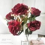 Décoration Table Ronde Mariage Rouge | Bouquet Artificiel | Roses Artificielles | Bouqueternel