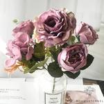Décoration Table Ronde Mariage Violettes | Bouquet Artificiel | Roses Artificielles | Bouqueternel