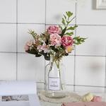 Bouquet de Fleurs Artificielles Pas Cher Cimetière Pivoine Artificielle Bouqueternel