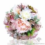 Bouquet de la Mariée de Pivoine Rose et Blanc composition   Bouquet Artificiel   Pivoines Artificielles   Bouqueternel