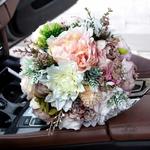 Bouquet de Mariée Pivoine Rose et Blanc   Bouquet Artificiel   Pivoines Artificielles   Bouqueternel