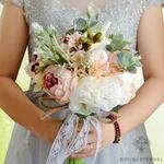 Bouquet de Mariée de Pivoines Vintage | Bouquet Artificiel | Pivoines Artificielles | Bouqueternel