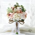Bouquet de Mariée Pivoine Vintage | Bouquet Artificiel | Pivoines Artificielles | Bouqueternel