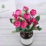 Bouquet de Pivoines Artificielles Fleur Artificielle pour Voiture Mariage Bouqueternel