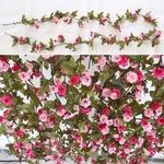 Plantes Artificielles Haut de Gamme Guirlande de Rose Bouqueternel