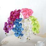 Bouquet Artificiel Orchidées Artificielles Haut de Gamme Rose Bleue Violet Blanc Vert Rose Pâle Bouqueternel