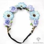 Couronne de Fleurs pour Mariage Bleu et Violet Pâle Bouqueternel