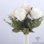 Bouquet Roses Artificielles Rosa Indica Blanches | Bouquet Artificiel | Bouqueternel