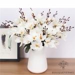 Bouquet Magnolia Soulangeana à Grandes Fleurs Blanc | Bouquet Artificiel | Bouqueternel.jpg