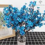 Branche de Fleurs de Cerisier Japonais Bleue | Branche Artificielle | Bouqueternel