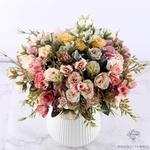 Composition Florale Rosaceae Moderne   Bouquet Artificiel   Bouqueternel