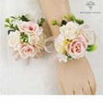 Bracelet de Fleurs Artificielles pour Mariage | Fleurs Artificielle Mariage | Bouqueternel
