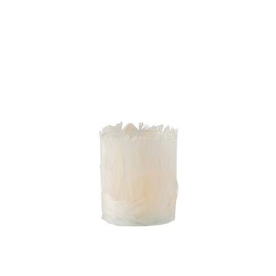Photophore en plumes ivoire
