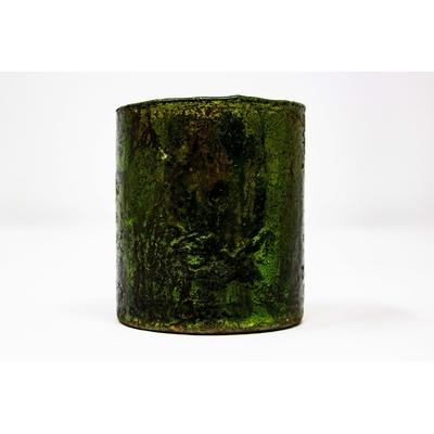 Photophore texturé vert
