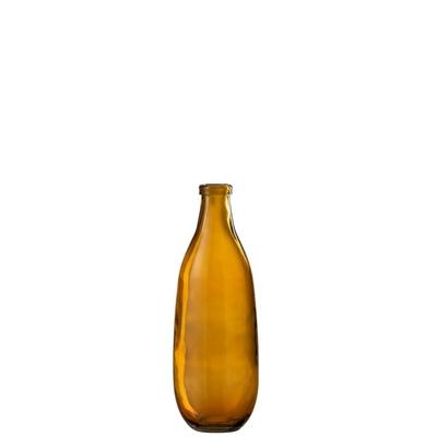 Vase ocre en verre recyclé