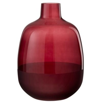 Vase rouge avec fond bordeaux