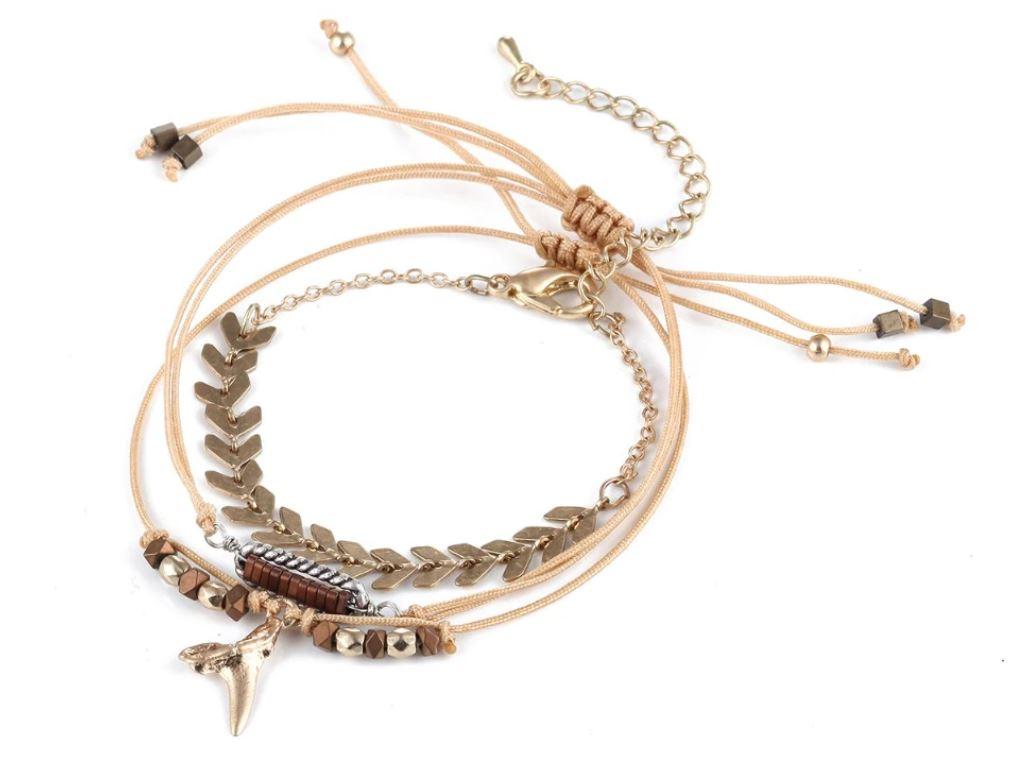 Bracelet ensemble 3 pièces à breloques - Flèches