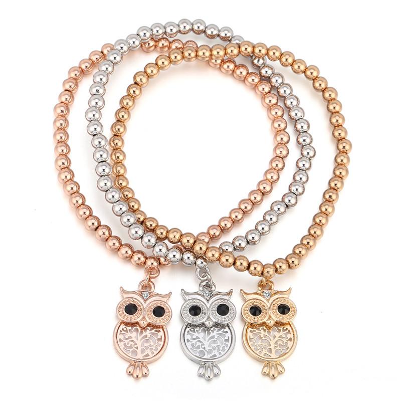 Bracelet perles 3 pièces - Breloque