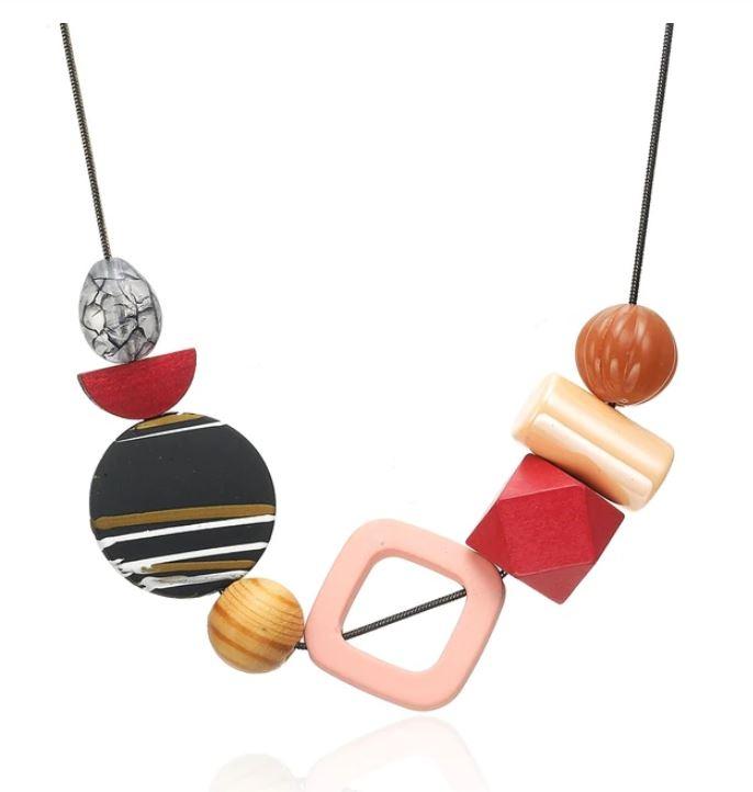 collier geometrique bois petillant2