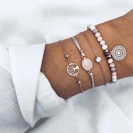 Ensemble de bracelets Arbre de vie - Strass
