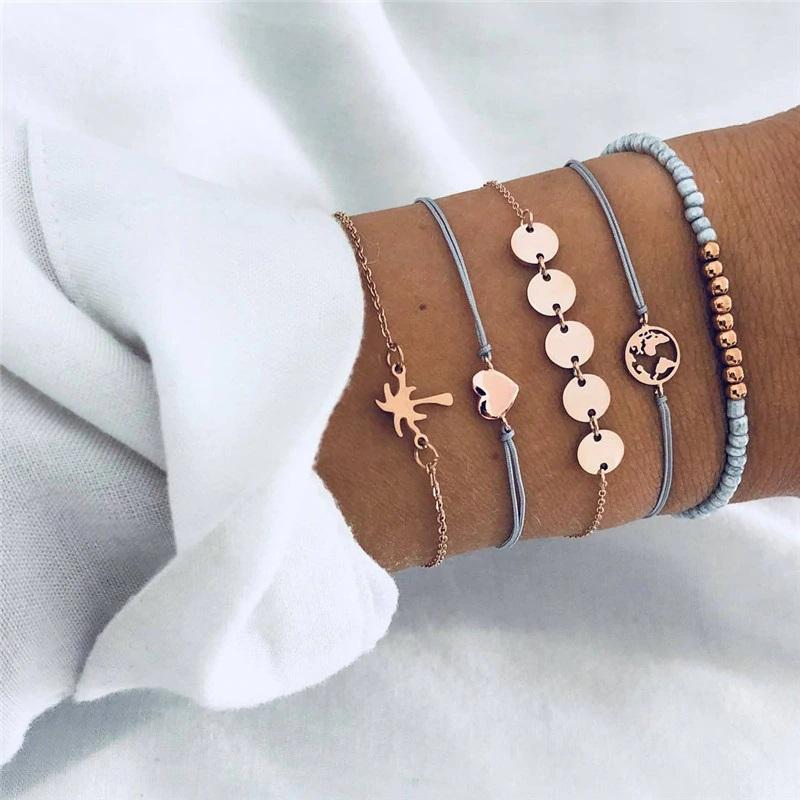 Ensemble de bracelets - Tons bleus