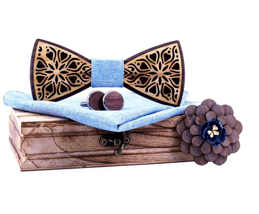 Nœud papillon bois - Amour