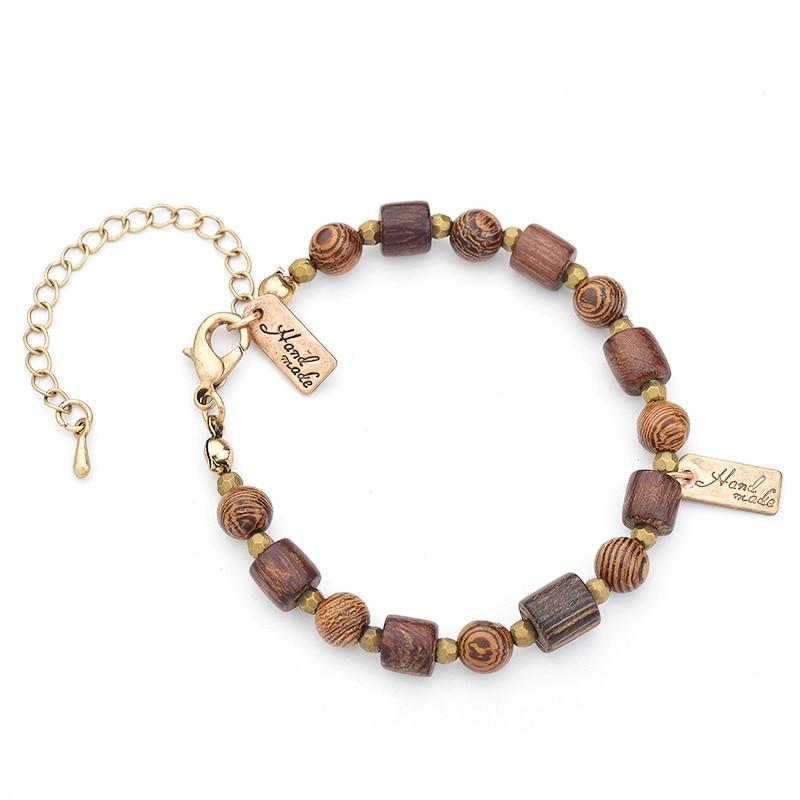 Bracelet perles bois - Hand made