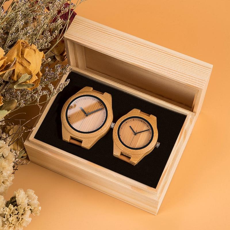 Coffret Duo - Deux montres bois - Amour