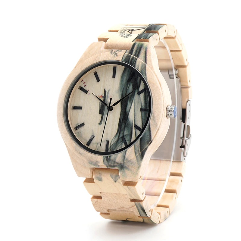 Montre bois homme - Camouflage