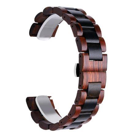 Bracelet Montre connectée en bois de 20 ou 22mm