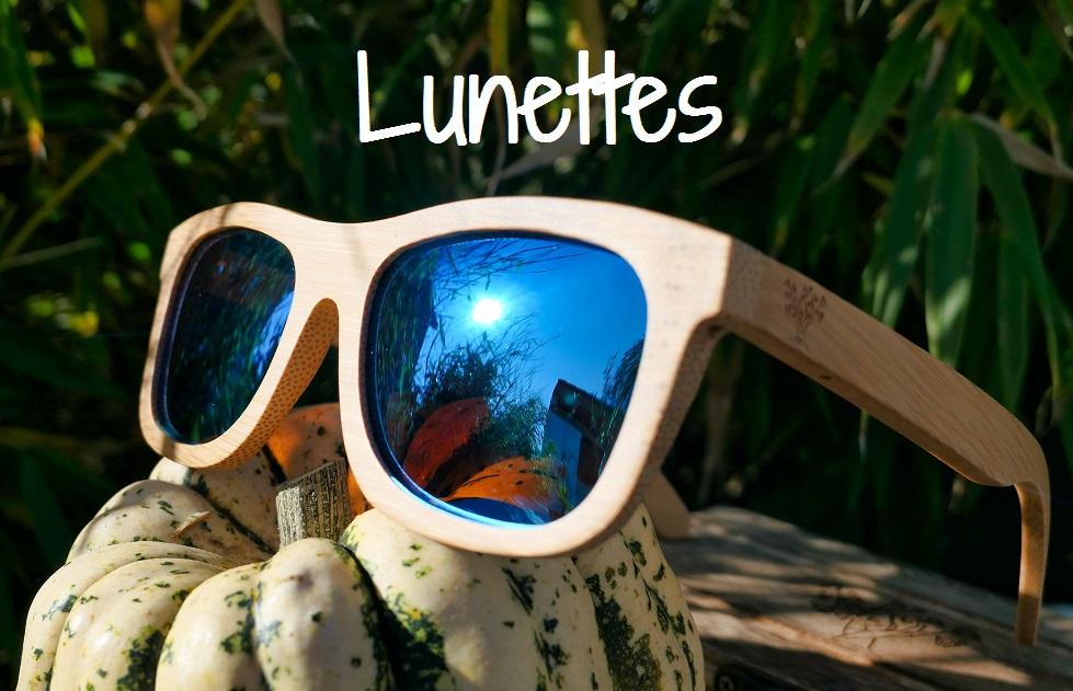 lunettes en bois la nature sur le nez