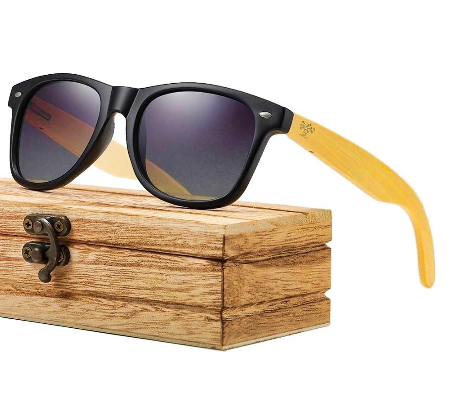 Lunettes en bois mixte - Wayfarer bambou