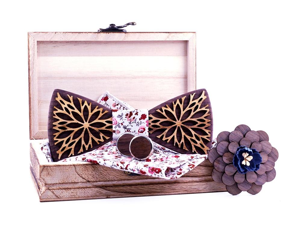 Noeud papillon bois - Fleur