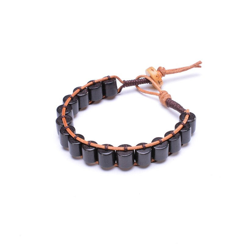 Bracelet Tibétain cordon et bois - Boho