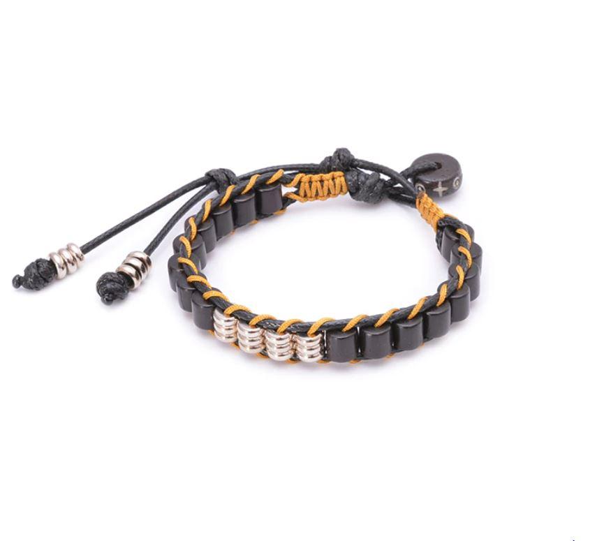 Bracelet Tibétain tressé bois - Soul